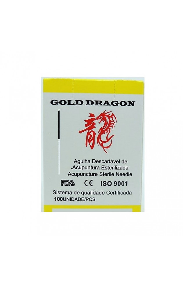 Agulha Gold Dragon Individual 0,20x15mm com 100 unid