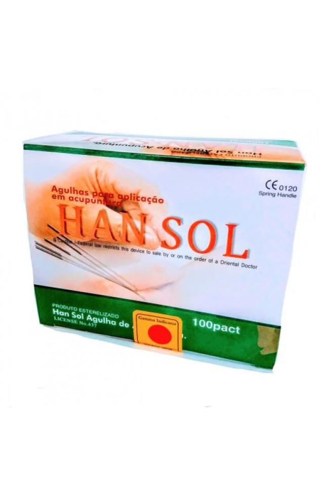 Agulha Han Sol 0,25x30mm com 1000 unid